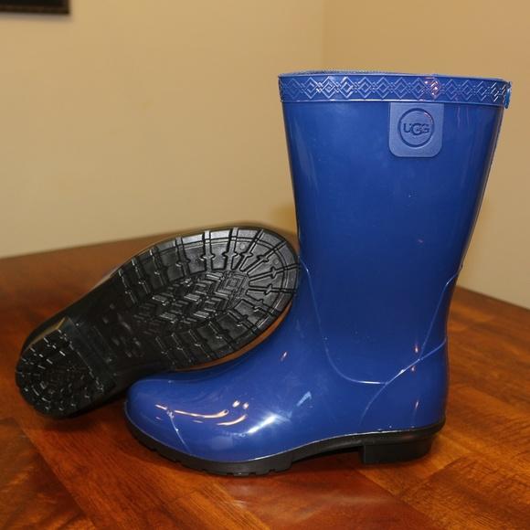 36c17b65f13 UGG Girl s Raana Rubber Rain Boots Blue Jay